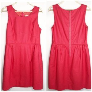 J. Crew Coral/Pink Shift Dress Size 14